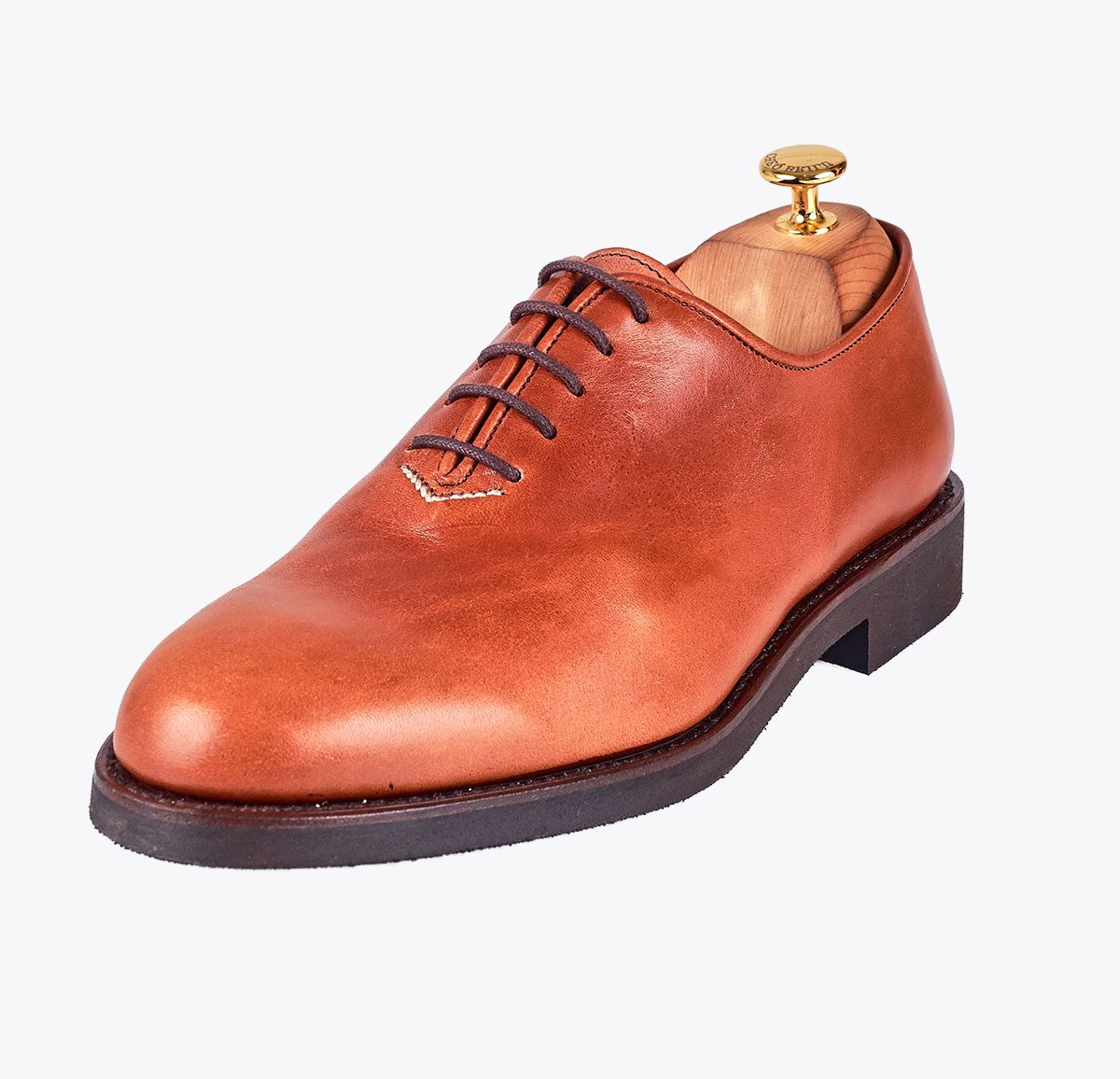 Zapato Boomerang hecho a mano en mandalashoes, Santanyí Mallorca. Hand made shoes. Nach Mass Schuhe