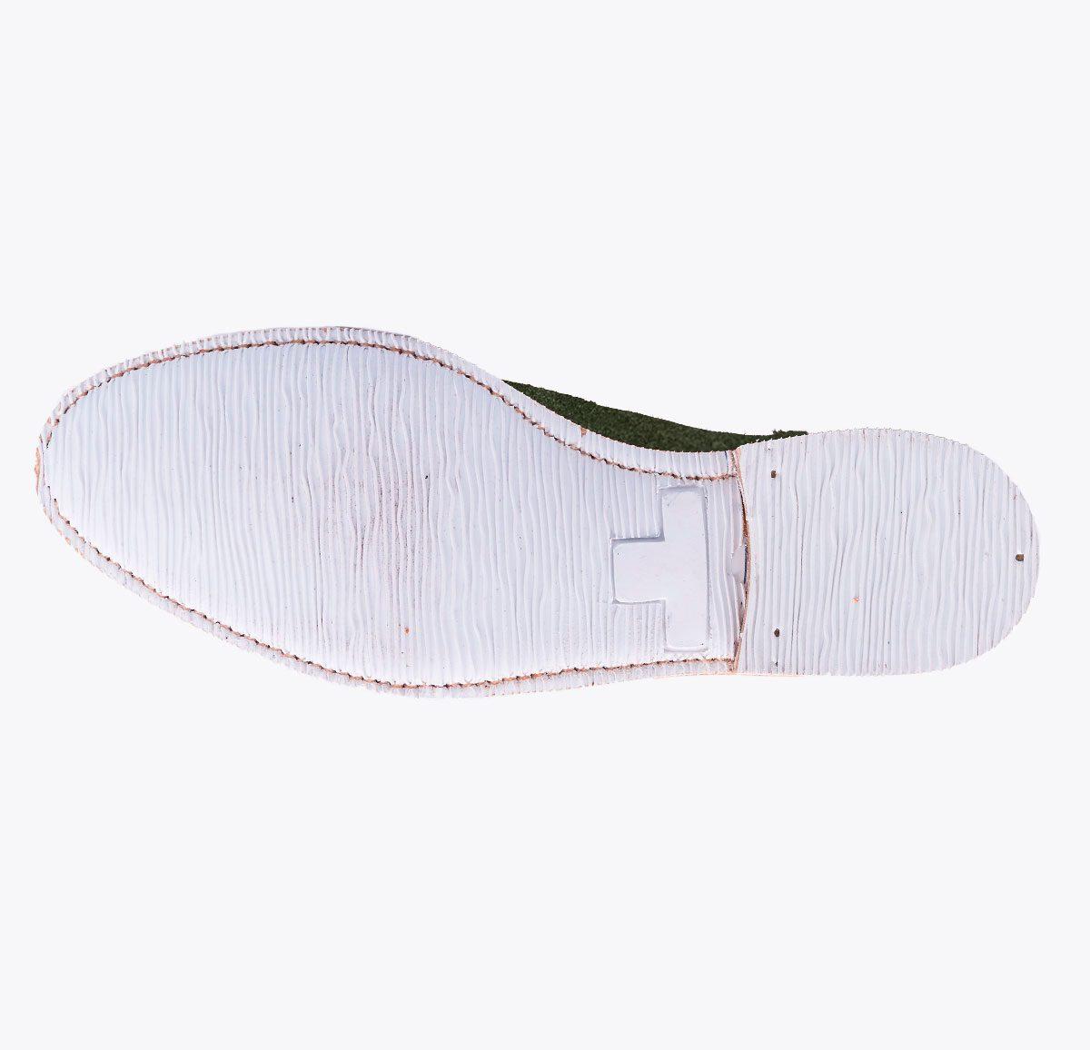 Zapato Summer 1 musgo hecho a mano en mandalashoes, Santanyí Mallorca. Hand made shoes. Nach Mass Schuhe