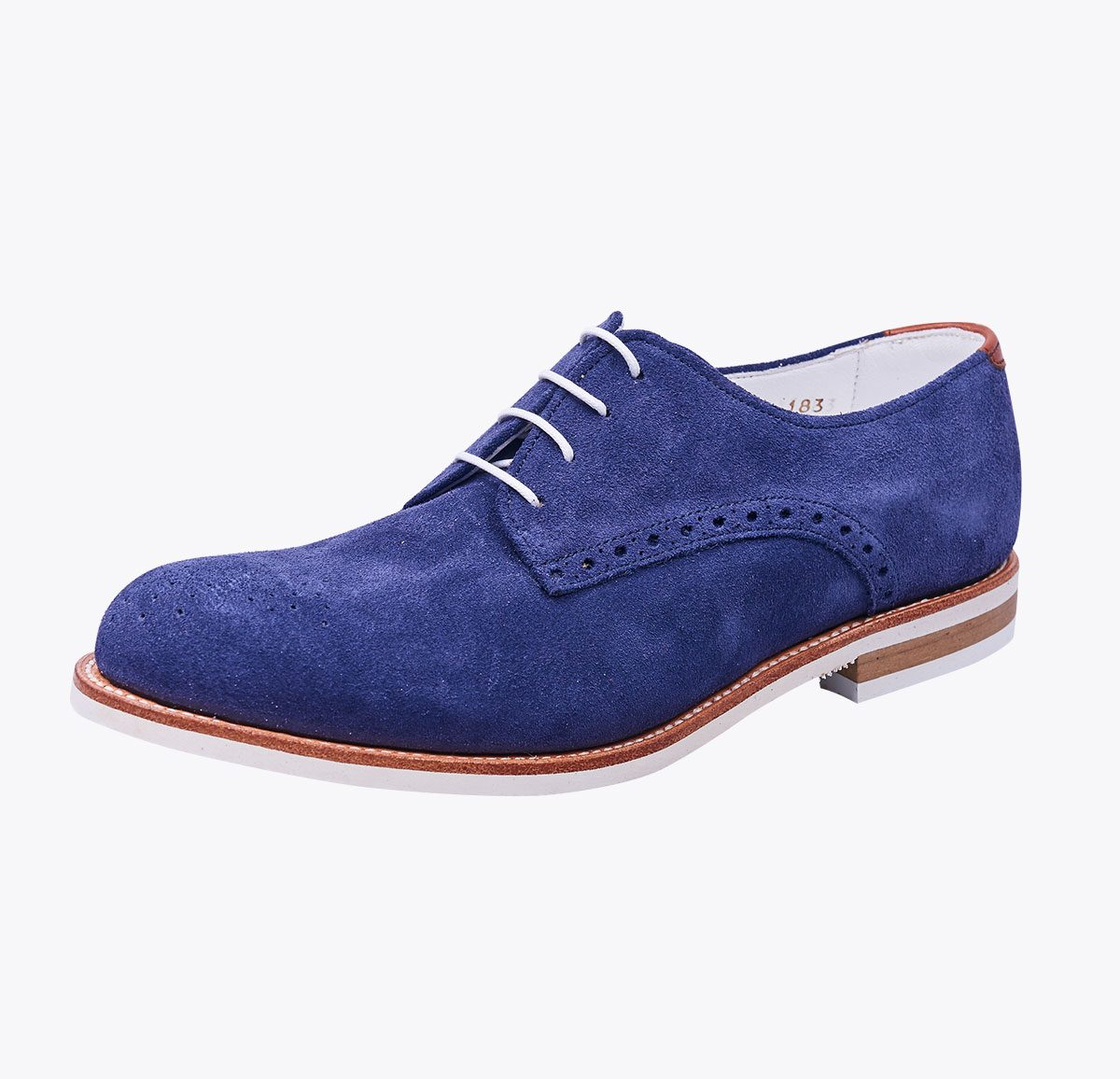 Zapato summer 1 navy hecho a mano en mandalashoes, Santanyí Mallorca. Hand made shoes. Nach Mass Schuhe