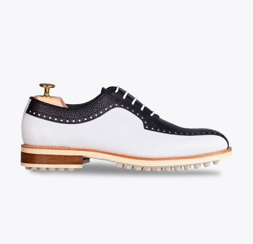 Zapato de golf Bendinat, tailor made shoes, schuhe nach mass en mandalashoes Santanyí Mallorca