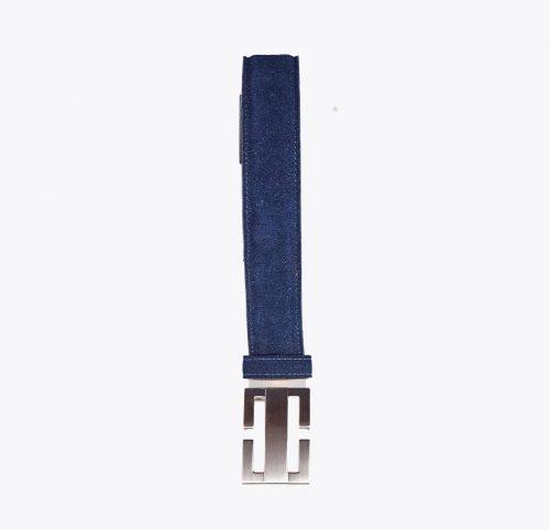 Cinturón de ante marino Accesorios y complementos en mandalashoes. Accessories in mandalashoes. Zubehör in Mandalas.