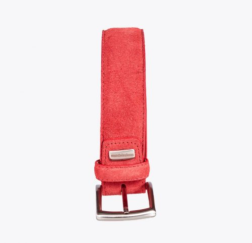 Cinturón ante rojo Accesorios y complementos en mandalashoes. Accessories in mandalashoes. Zubehör in Mandalas.
