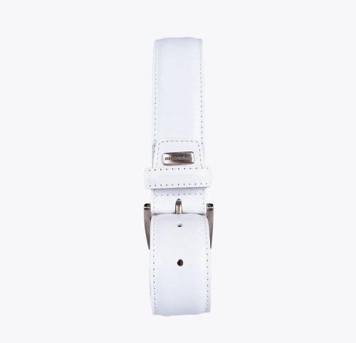 Cinturón vacuno blanco Accesorios y complementos en mandalashoes. Accessories in mandalashoes. Zubehör in Mandalas.