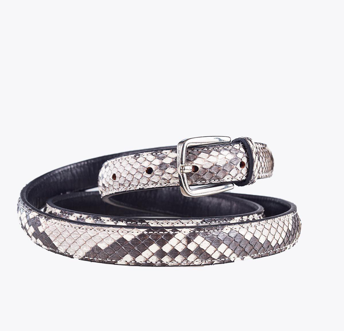 Cinturón pitón 20mm. Accesorios y complementos en mandalashoes. Accessories in mandalashoes. Zubehör in Mandalas.