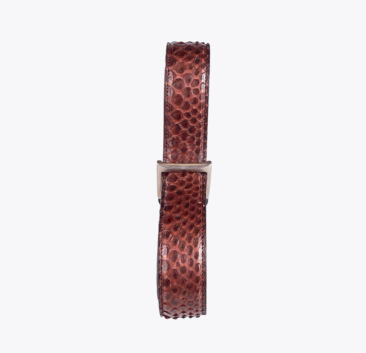 Cinturón pitón marrón Accesorios y complementos en mandalashoes. Accessories in mandalashoes. Zubehör in Mandalas.