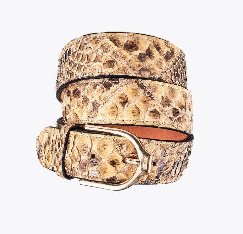 Cinturón pitón ámbar Accesorios y complementos en mandalashoes. Accessories in mandalashoes. Zubehör in Mandalas.