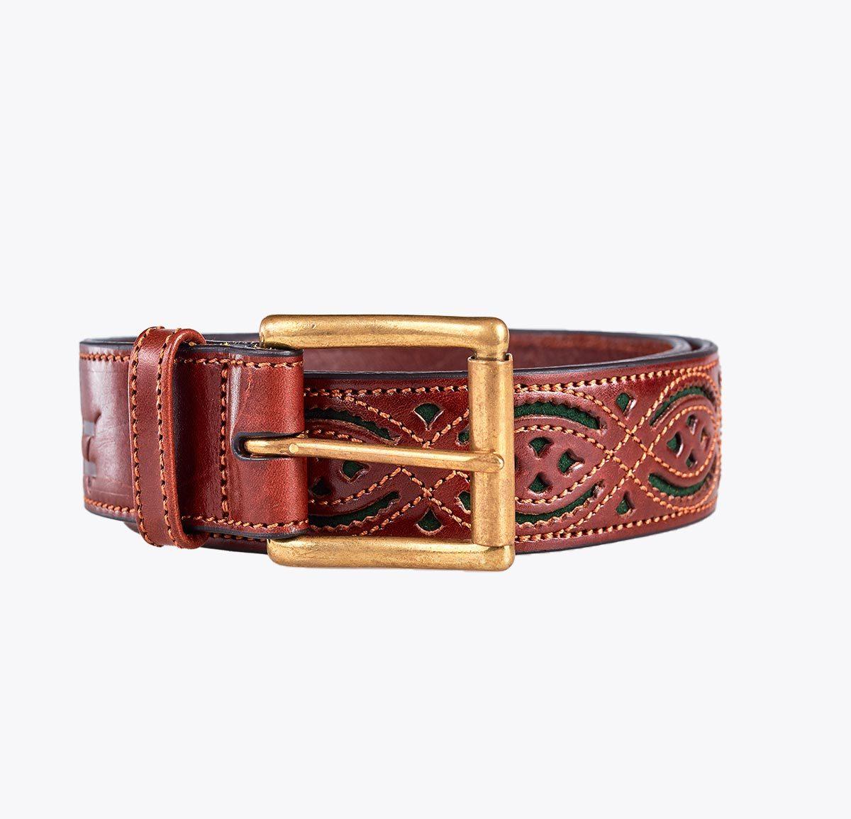 Cinturón picado Accesorios y complementos en mandalashoes. Accessories in mandalashoes. Zubehör in Mandalas.