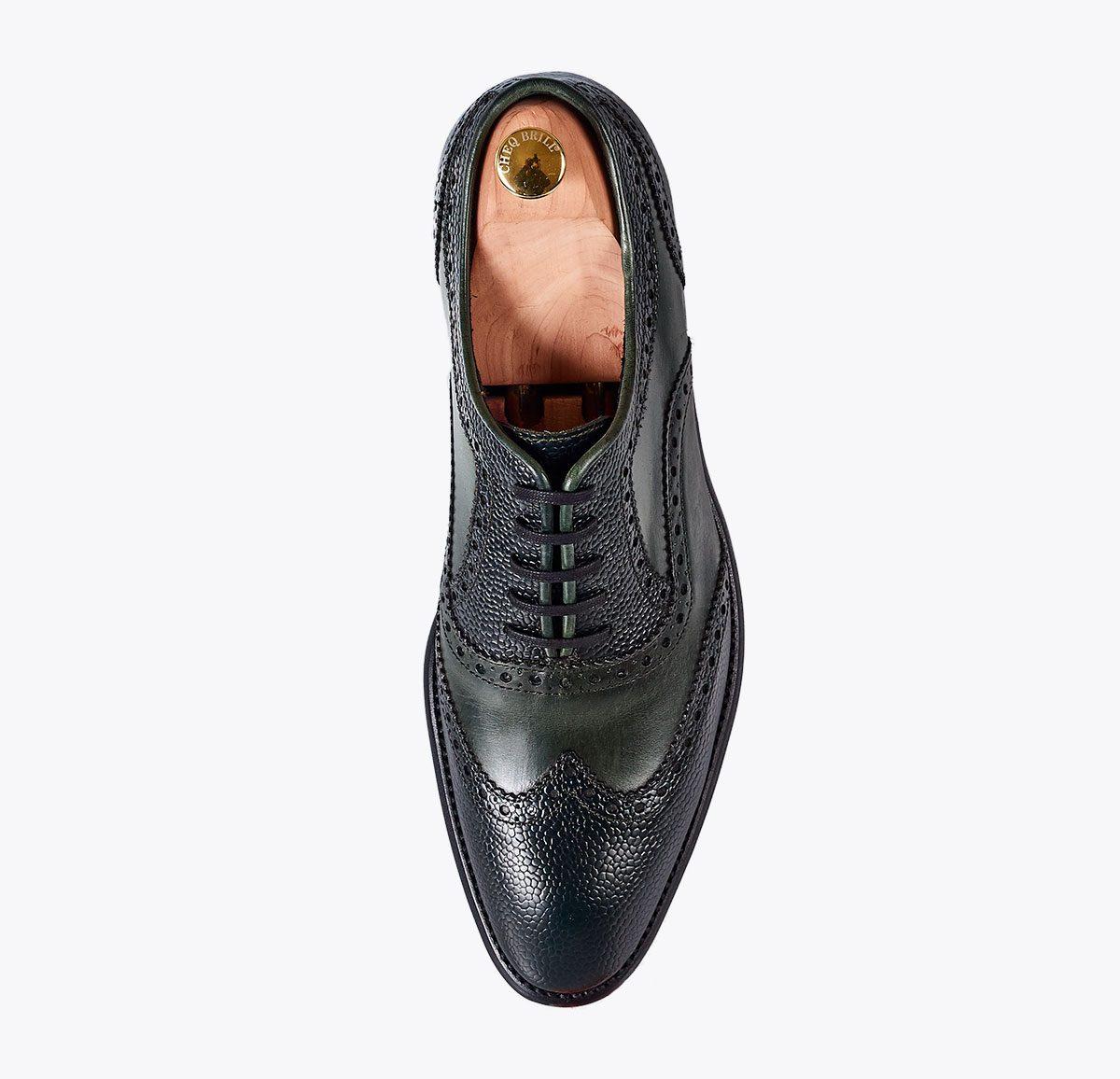Zapato Málaga hecho a mano en mandalashoes, Santanyí Mallorca. Hand made shoes. Nach Mass Schuhe