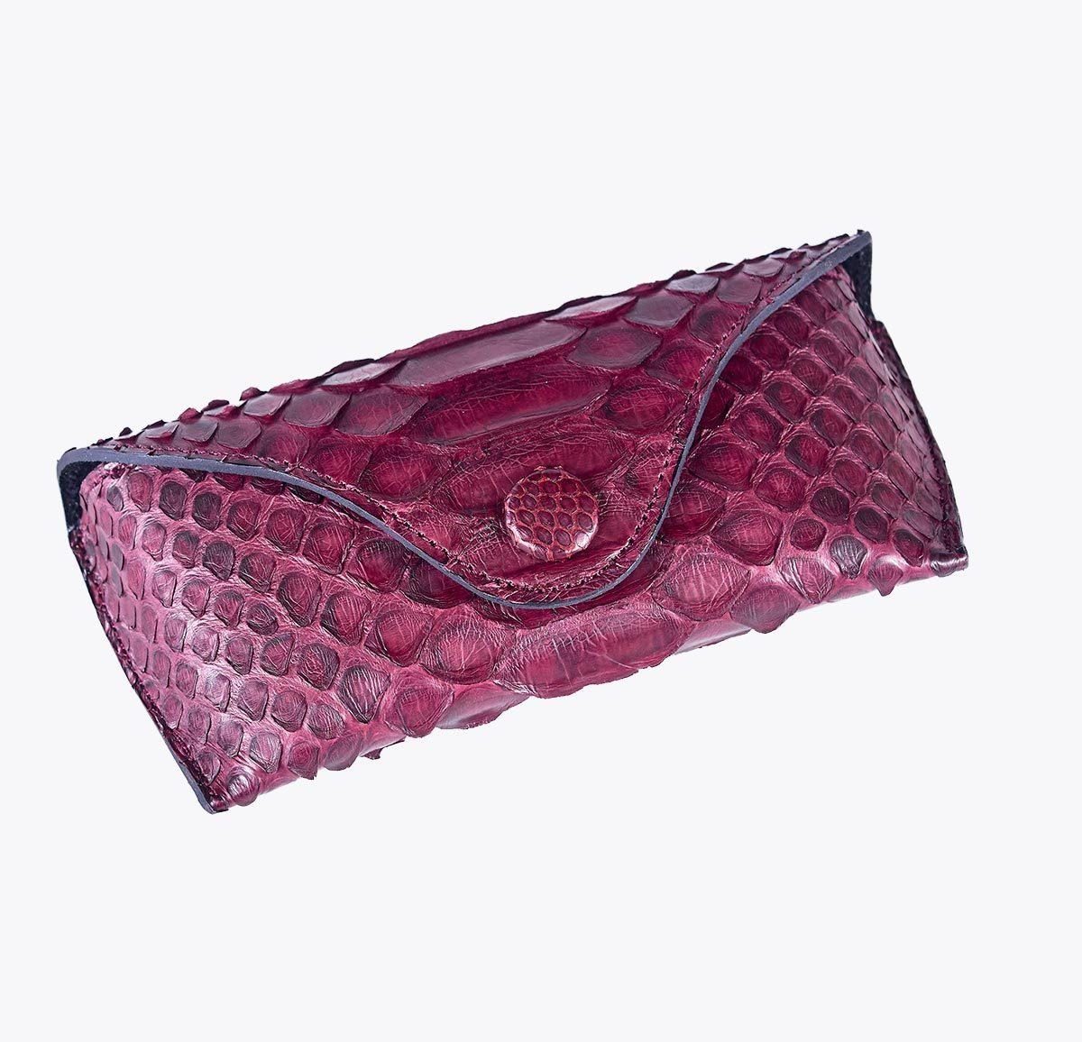 Monedero pitón granate Accesorios y complementos en mandalashoes. Accessories in mandalashoes. Zubehör in Mandalas.