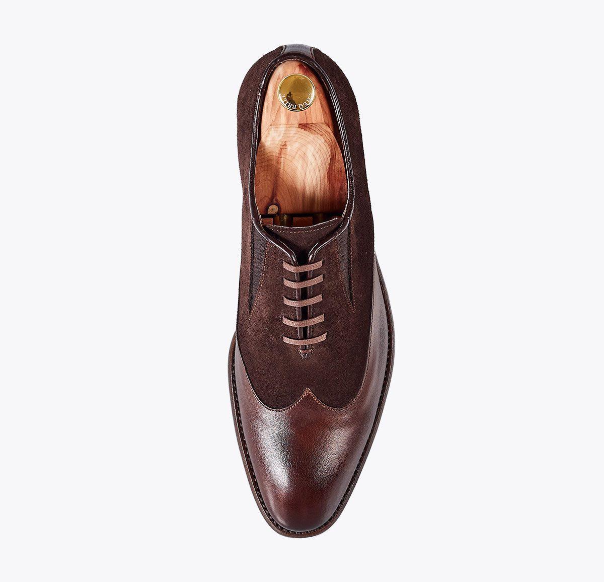 Zapato Napoleón hecho a mano en mandalashoes, Santanyí Mallorca. Hand made shoes. Nach Mass Schuhe