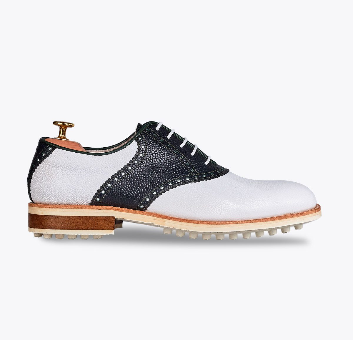 Zapato de golf Portil, tailor made shoes, schuhe nach mass en mandalashoes Santanyí Mallorca