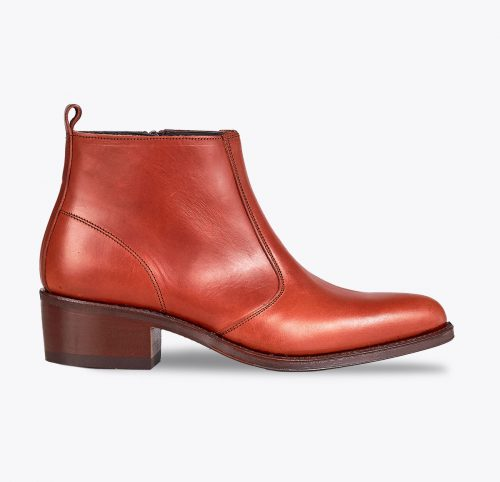 Botín texana natural, tailor made shoes, schuhe nach mass en mandalashoes Santanyí Mallorca