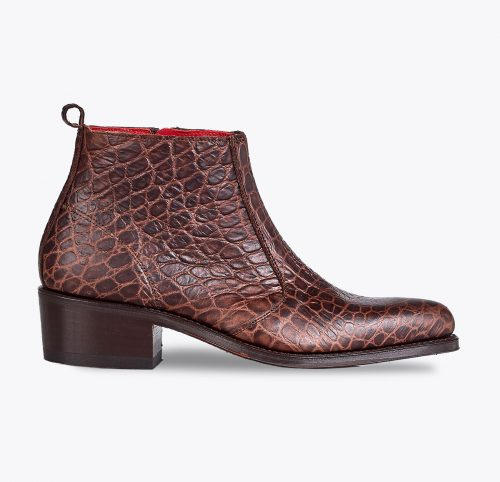 Botín texana coco, tailor made shoes, schuhe nach mass en mandalashoes Santanyí Mallorca