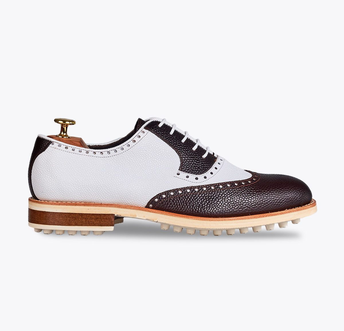 Zapato de golf Vegas, tailor made shoes, schuhe nach mass en mandalashoes Santanyí Mallorca